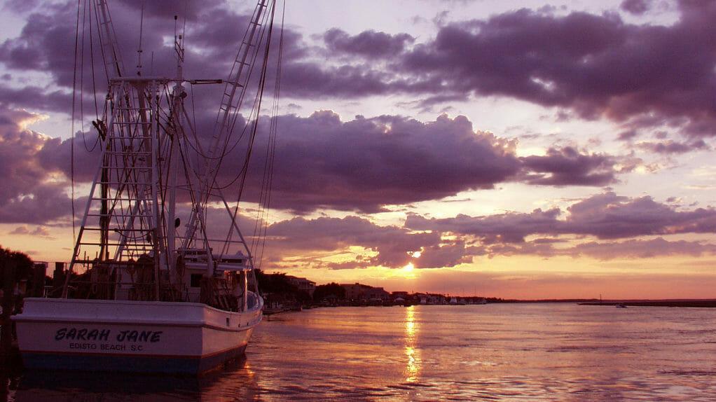 Shrimpboat Sunset Edisto Beach SC