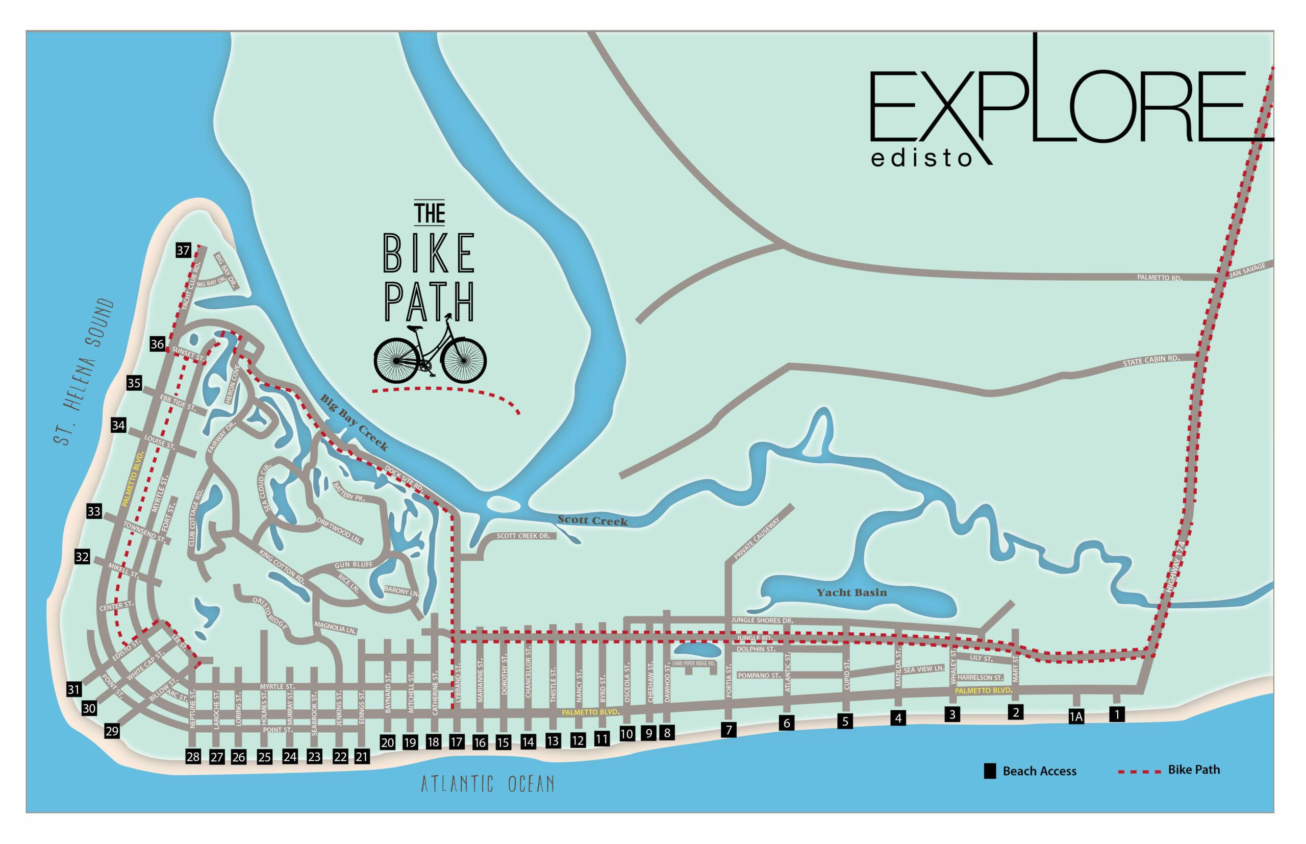 Bike Path on Edisto Beach