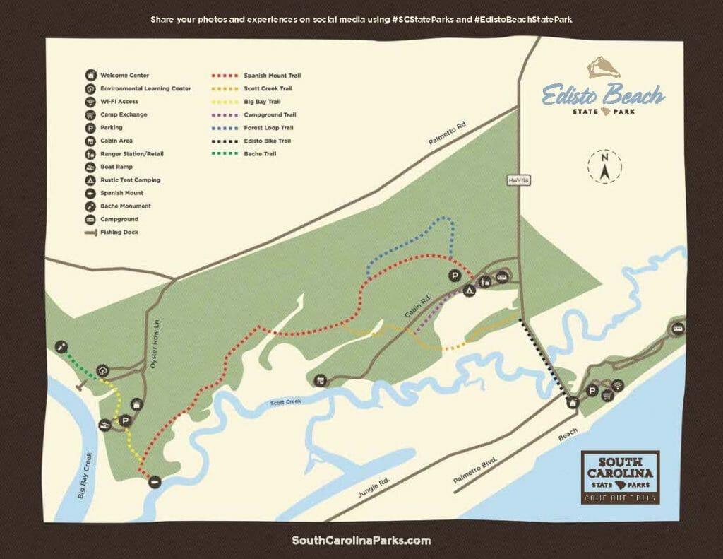 Trails to Hike Bike or Walk on Edisto Beach