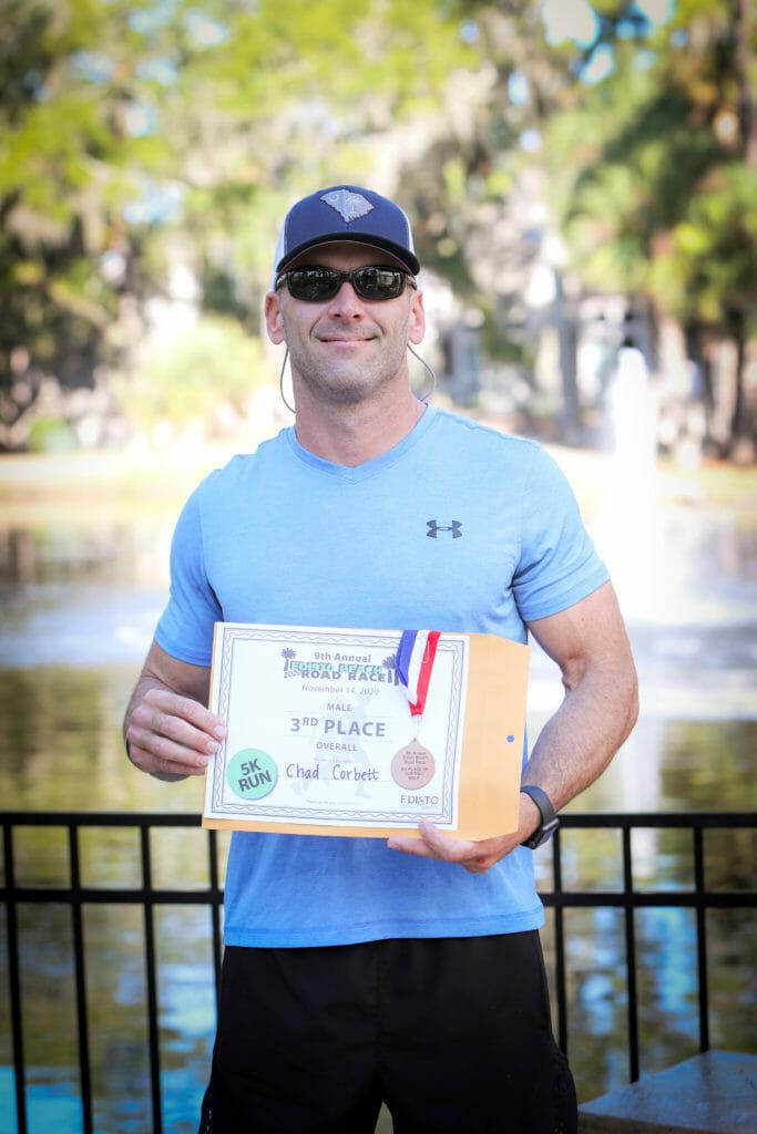 Third Place Winner of 9th Annual Edisto Beach Road Race