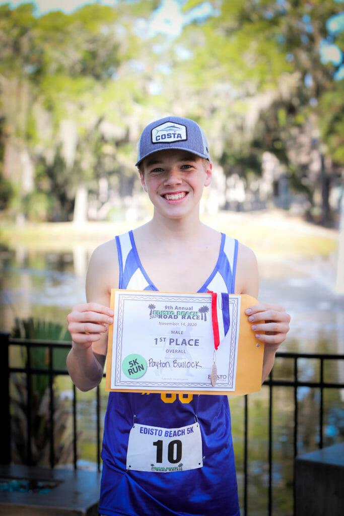 Winner of 9th Annual Edisto Beach Road Race