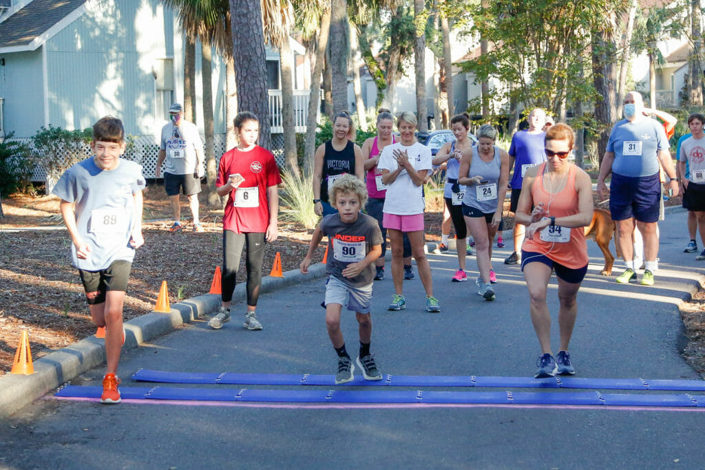 Beginning of Annual Edisto Beach Road Race